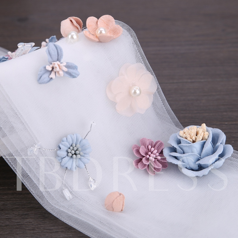 Lace Flower Imitation Pearl Bride Hair Accessories