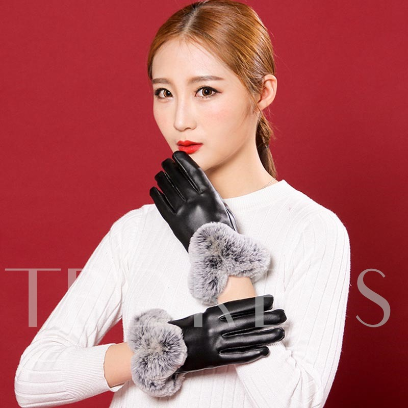 Glossy Warmth Touch Screen Elegant Gloves