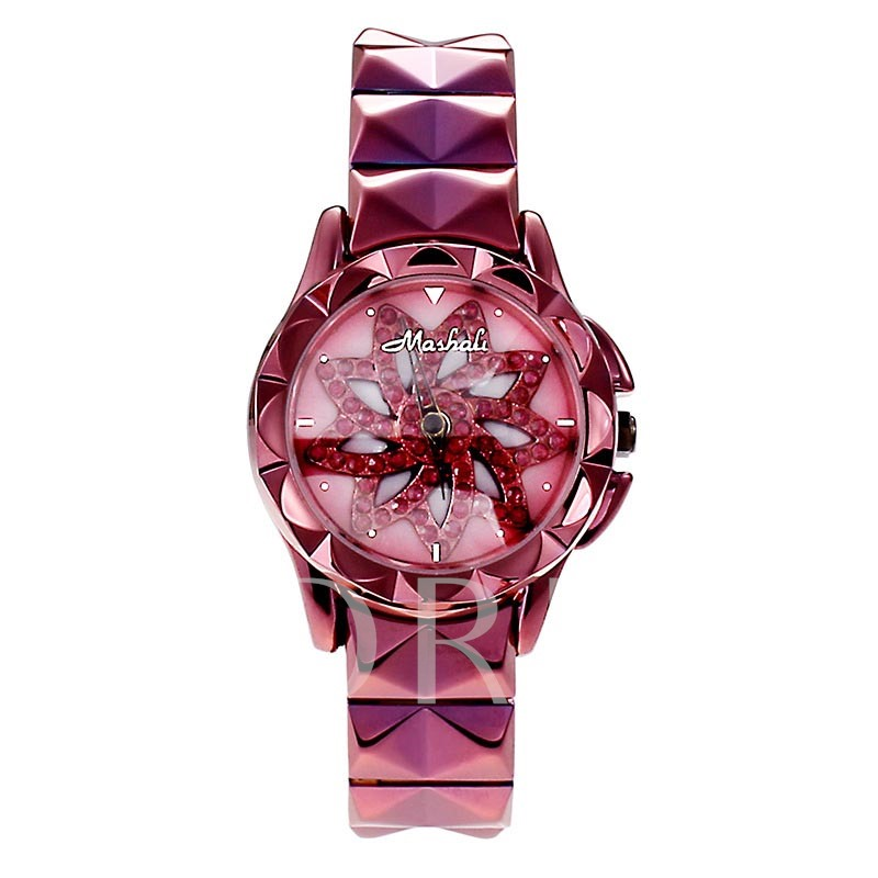 Flower Quartz Ultra Violet Stainless Steel Watches