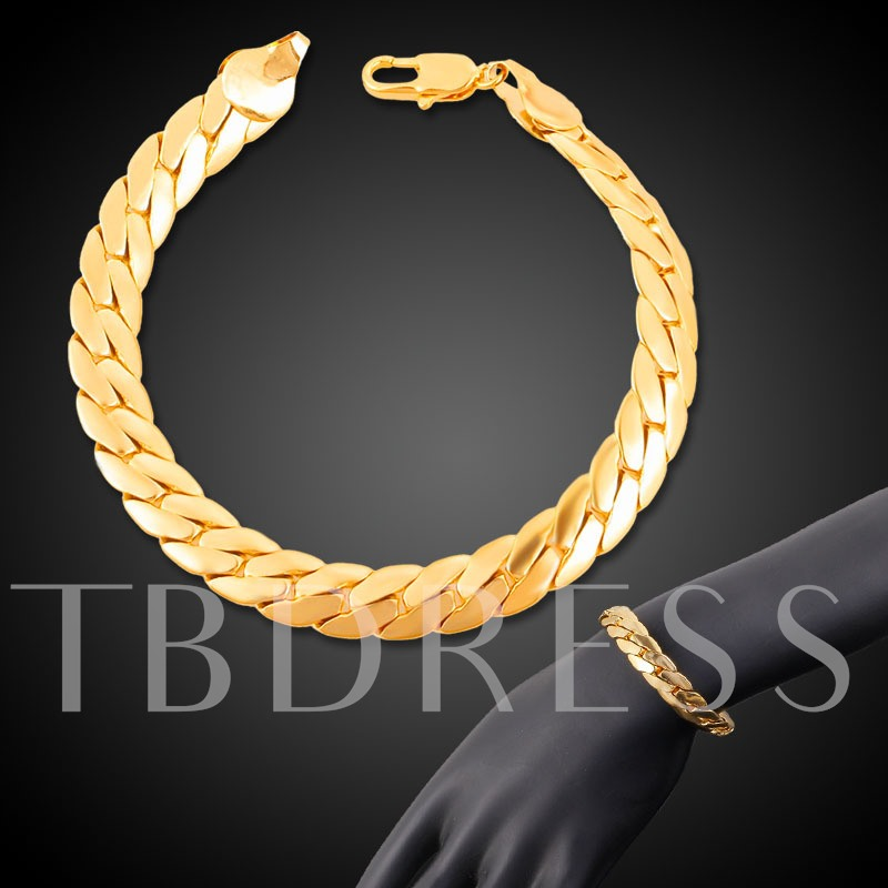 Smooth Bronze 18K Gold Plated African Bracelet