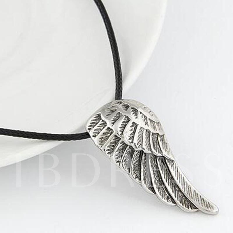 Angel's Wings Shaped Titanium Steel Korean Men's Necklace