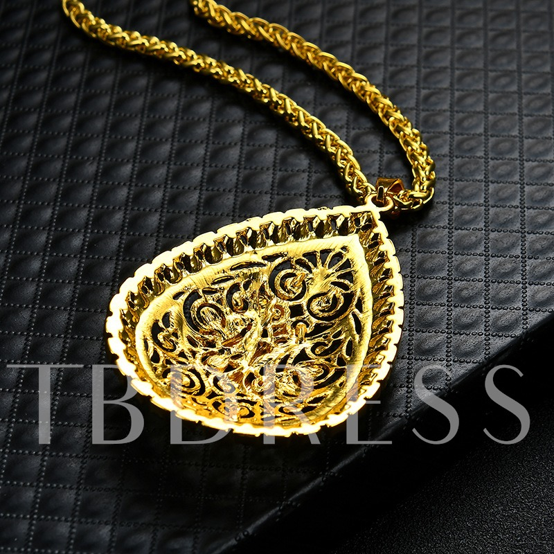 Alloy Gold Plated Totem Arabia Allah Islam Religion Necklace