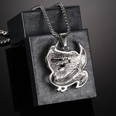 Titanium Steel Eagle Shaped African Men's Necklace