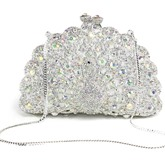 Peacock Rhinestone Design Mini Evening Clutch