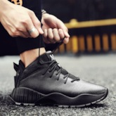 Lace Up Solid Lace Up Running Shoes for Men