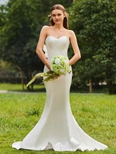 Strapless Mermaid Ruffles Wedding Dress