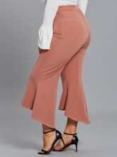 Plus Size High-Waist Plus Size Women's Bellbottoms