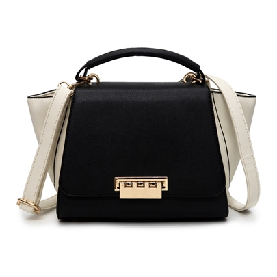 Ladylike Color Block Women Satchel