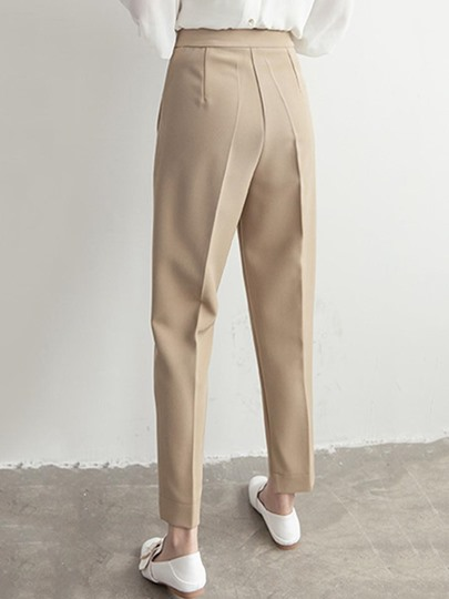 Plain Ankle Length Women's Pencil Pants
