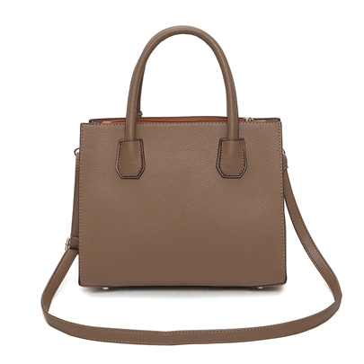 Well Match Solid Color Zipper Women Tote
