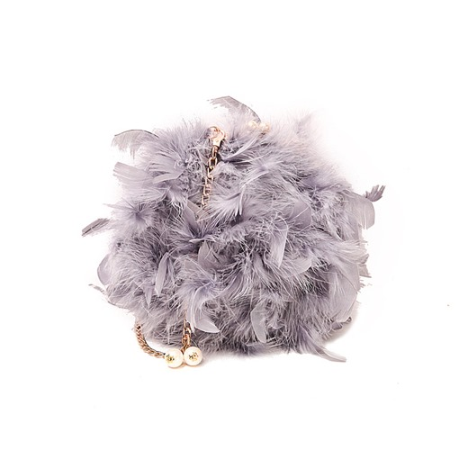 Lovely Solid Color Feather Crossbody Bag