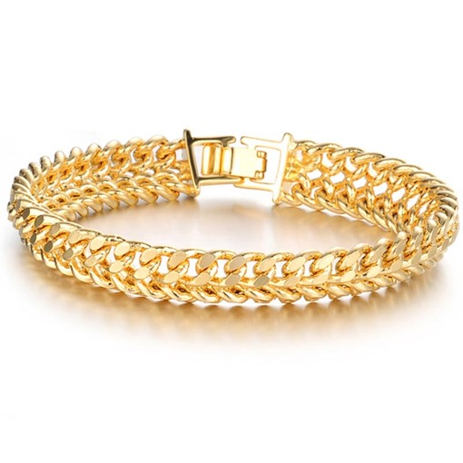 Hollow Out 18K Overgild Anti Allergy Men's Bracelet