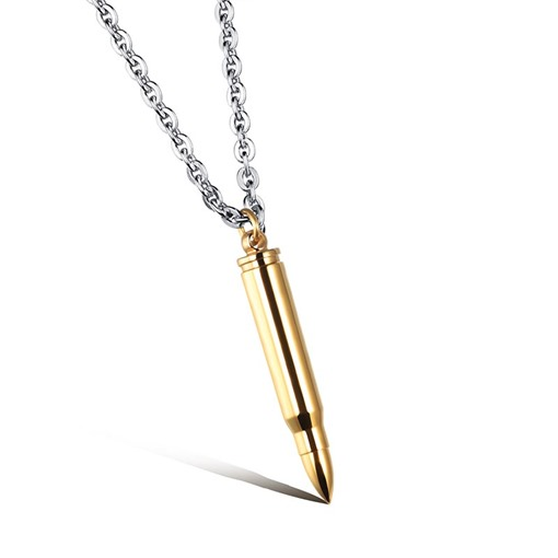 Bullet Design Titanium Steel Polishing African Men's Necklace