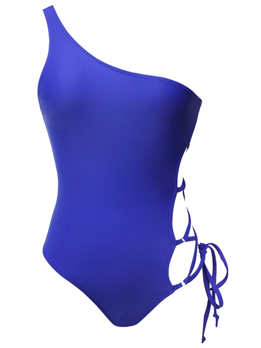 One-Shoulder Hollow Bandage One-Piece Swimsuit
