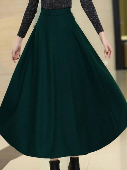 Vintage High Waist Thick Women's Flare Skirt