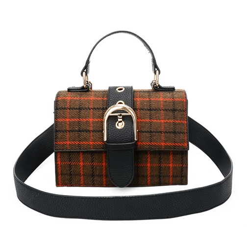 Classic Plaid Belt-Decorated Women Tote