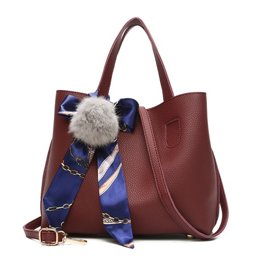 Casual Silk Scarf Decoration Women Tote