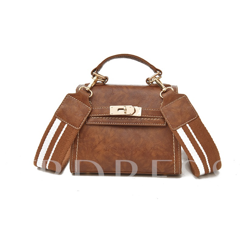Stylish Latch Decoration PU Women Tote