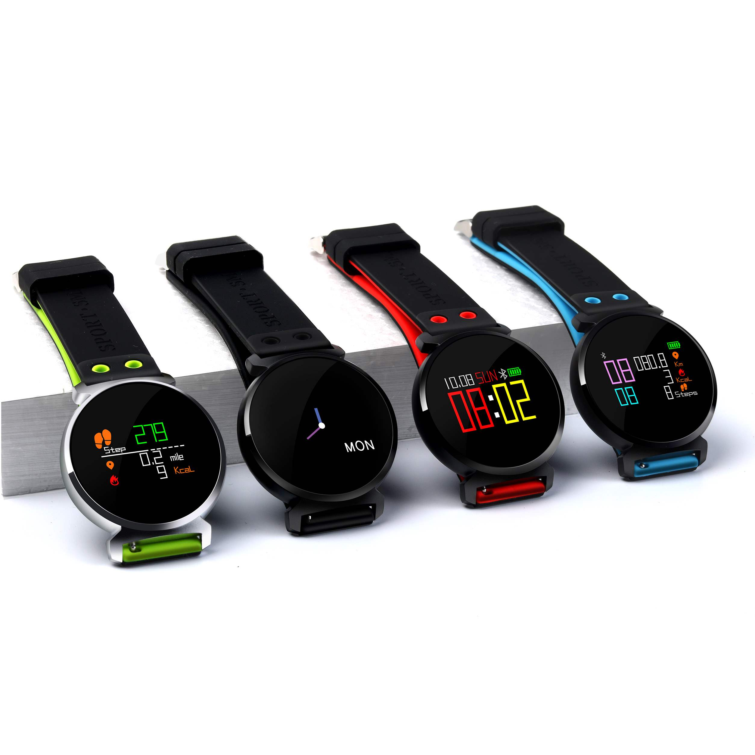 Pop Smart Watch IP68 Waterproof Fitness Tracker for Apple Android Phones