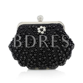 Bead Rhinestone Decoration Evening Clutch