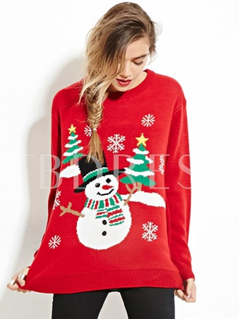 Cartoon Loose Long Sleeve Women's Ugly Christmas Sweater