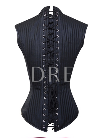Women Classical Ring-Decorated Lace-Up Corset