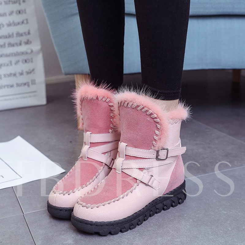 Height Increase Plush Slip On Winter Snow Boots