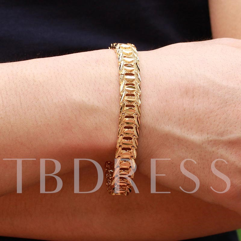 18K Gold Plated Alloy Luxurious African Men's Bracelet