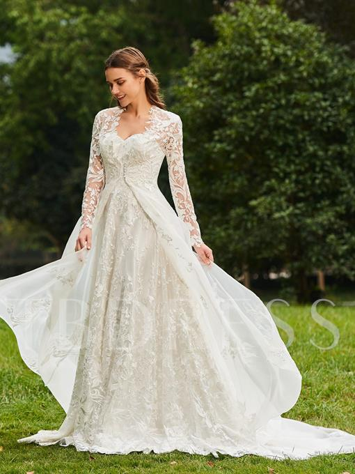 Sweetheart A-Line Lace Wedding Dress with Jacket