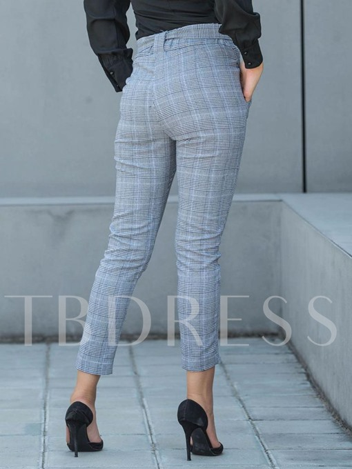 High Waist Pocket Women's Versatile Pants