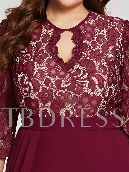 Scoop Neck Backless Lace A Line Evening Dress
