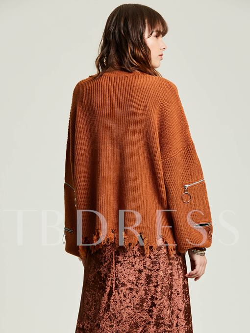 Loose Round Neck Pullover Women's Sweater
