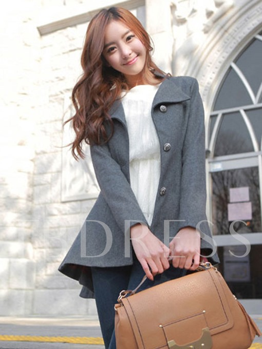 Single-Breasted Slim Fit Women's Overcoat