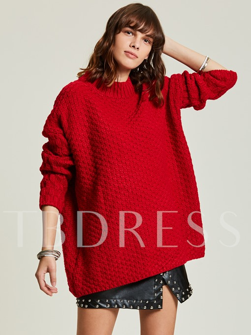 Loose Thick Plain Pullover Women's Sweater
