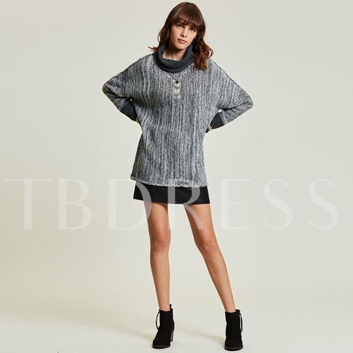 Loose Turtleneck Batwing Sleeve Pullover Women's Sweater