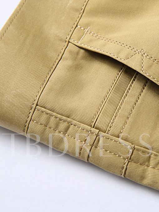 Solid Color Straight Slim Men's Casual Pants