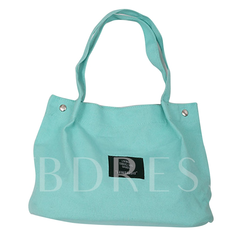 Simple Solid Color Zipper Shoulder Bag
