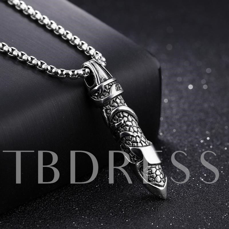 Cylinder Black Coating Silver Plated Overgild African Men's Necklace
