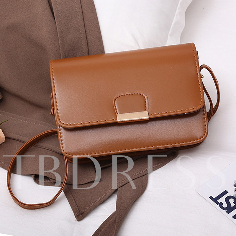 Simple Solid Color Cross Body Bag