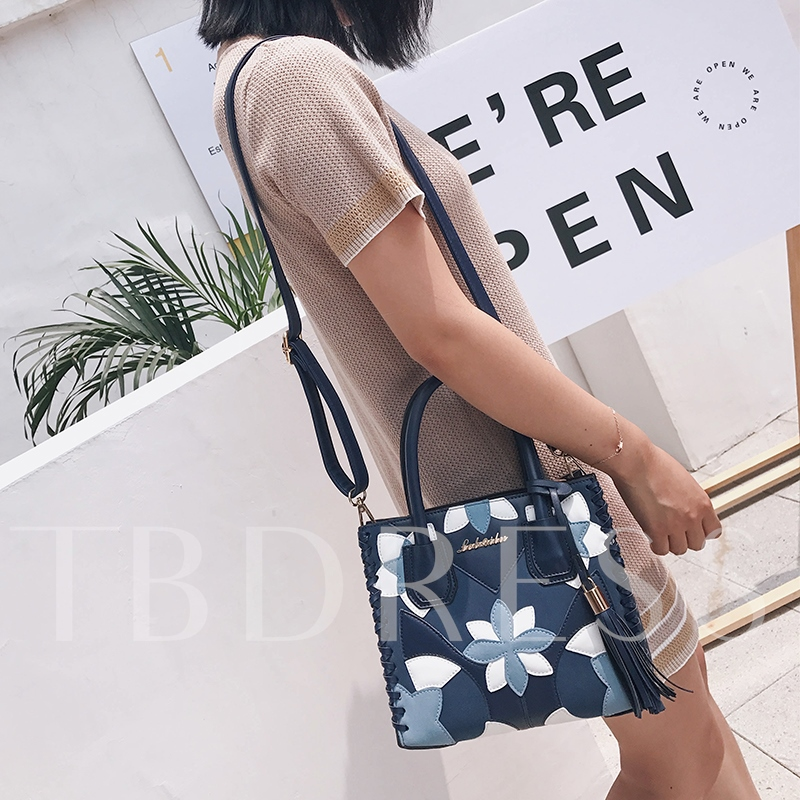 Casual Floral Prints Tassel Women Tote Bag