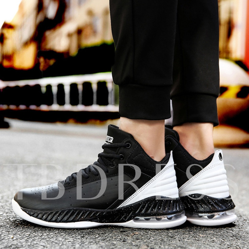 Cushioning Color Block Lace Shoes High Top Men's