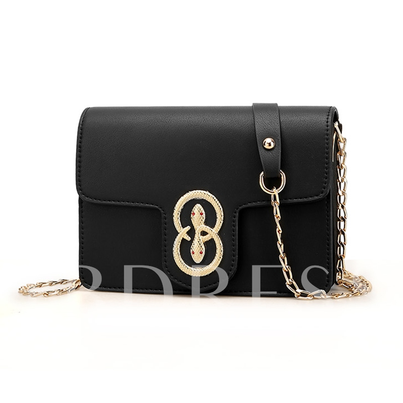 Casual Solid Color Chain Cross Body Bag