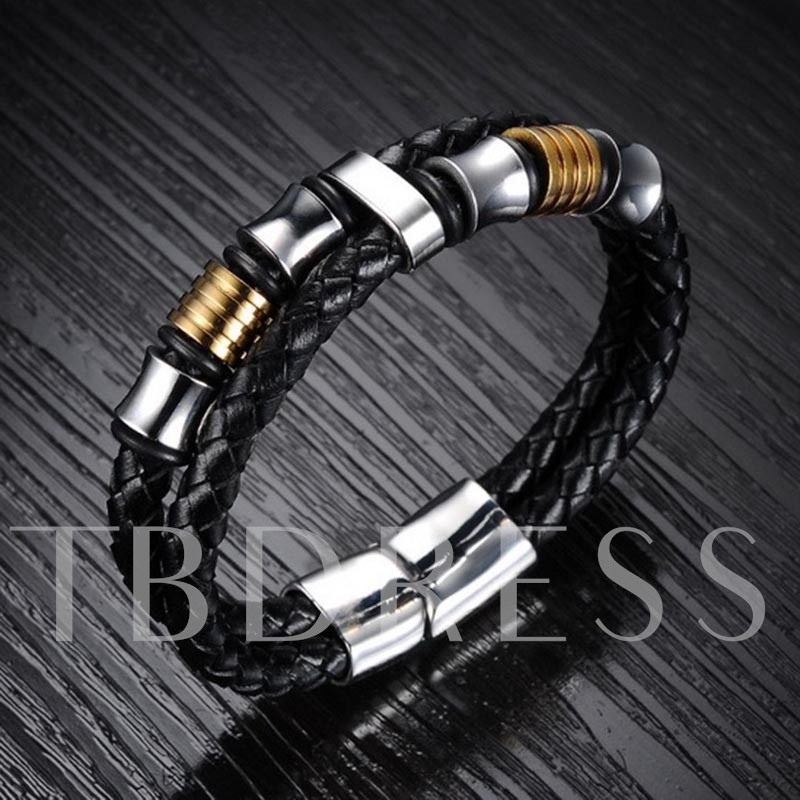 Magnetic Buckle Woven Men's Bracelet