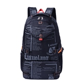 Casual Letter Pattern Patchwork Oxford Women Backpack
