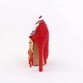 Chinese Style Vintage Wedding Shoes Red High Heels