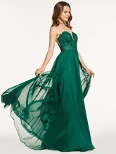 A-Line Sweetheart Lace Floor-Length Prom Dress