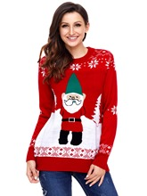 Pullover Color Block Women's Ugly Christmas Sweater
