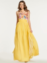 A-Line Sweetheart Embroidery Split-Front Prom Dress
