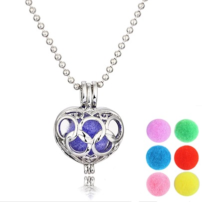 DIY Heart Design Essential Oil Diffuser Necklace