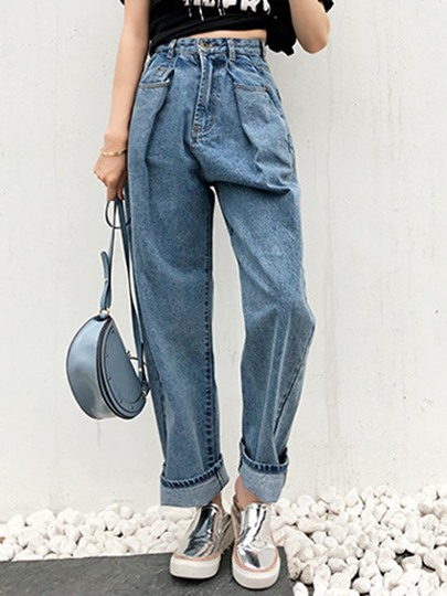 Loose High Waist Womens Mom Jeans 13098258